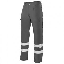 Pantalon à bandes réfléchissantes multipoches 65% polyester 35% coton 190 gr/m2 - Gris - 159 - Velilla