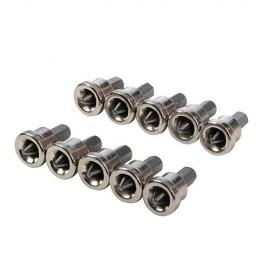 10 embouts de vissage L.25 mm pour cloison sèche PH2, chrome-vanadium - 950128 - Silverline
