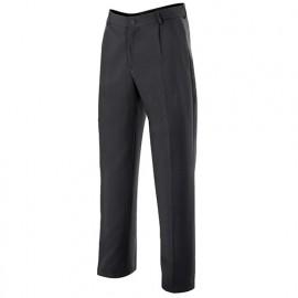 Pantalon de serveur à pinces stretch poche gousset 100% polyester 180 gr/m2 - Noir - ALBARINO - Disvel