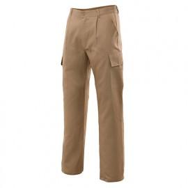 Pantalon de travail multipoches 80% polyester 20% coton 190 gr/m2 - Beige - 31601 - Vertice laboral