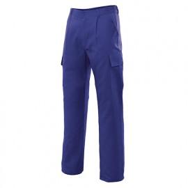 Pantalon de travail multipoches 80% polyester 20% coton 190 gr/m2 - Bleu Azur - 31601 - Vertice laboral