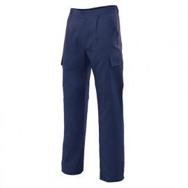 Pantalon de travail multipoches 80% polyester 20% coton 190 gr/m2 - Bleu Marine - 31601 - Vertice laboral