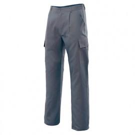 Pantalon de travail multipoches 80% polyester 20% coton 190 gr/m2 - Gris - 31601 - Vertice laboral