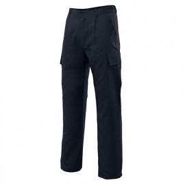 Pantalon de travail multipoches 80% polyester 20% coton 190 gr/m2 - Noir - 31601 - Vertice laboral