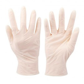 100 gants latex jetables Large - 980918 - Silverline