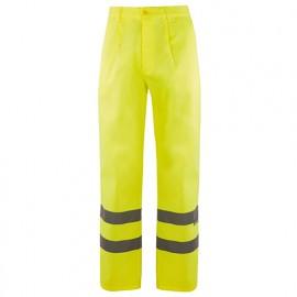 Pantalon haute visibilité 4 poches 80% polyester 20% coton 210 gr/m2 - Jaune Fluo - 160 - Velilla