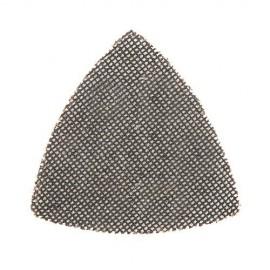 10 triangles abrasifs treillis auto-agrippants 105 mm Grains assortis: 4 x 40, 80, et 2 x 120 - 986624 - Silverline