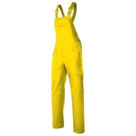 Salopette de travail industrie 6 poches 65% polyester 35% coton 190 gr/m2 - Jaune - 290 - Velilla