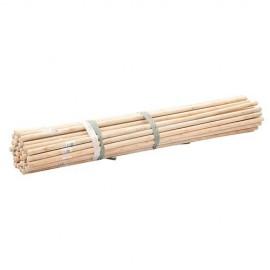50 manches à balais en bois D. 23,8 mm x 1,2 M - 999088 - Silverline
