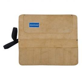 Trousse en daim pour burins et ciseaux à 8 poches 440 x 380 mm - CB07 - Silverline