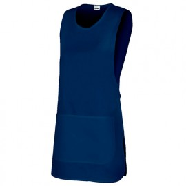 Tablier chasuble réversible agroalimentaire 65% polyester 35% coton 190 gr/m2 - Bleu Marine - 254201 - Velilla