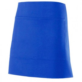 Tablier de service court à poche 100% polyester 160 gr/m2 - Bleu Azur - 404205 - Velilla