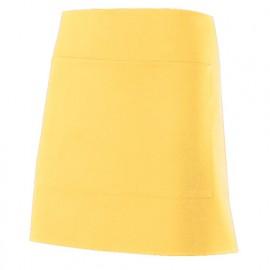 Tablier de service court à poche 100% polyester 160 gr/m2 - Jaune Clair - 404205 - Velilla