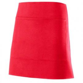 Tablier de service court à poche 100% polyester 160 gr/m2 - Rouge - 404205 - Velilla