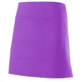 Tablier de service court à poche 100% polyester 160 gr/m2 - Violet - 404205 - Velilla