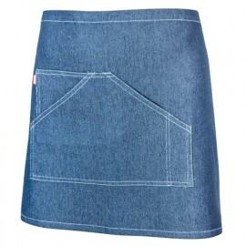 Tablier de service court à poche 55% polyester 42% coton 3% spandex 260 gr/m2 - Denim - 404206 - Velilla