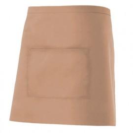 Tablier de service court à poche 65% polyester 35% coton 190 gr/m2 - Beige - 404201 - Velilla