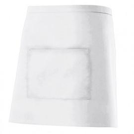Tablier de service court à poche 65% polyester 35% coton 190 gr/m2 - Blanc - 404201 - Velilla