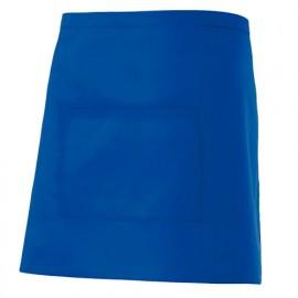 Tablier de service court à poche 65% polyester 35% coton 190 gr/m2 - Bleu Azur - 404201 - Velilla
