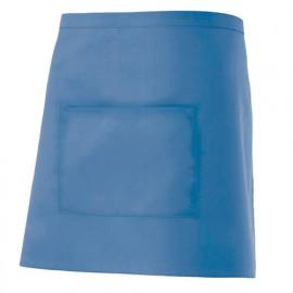 Tablier de service court à poche 65% polyester 35% coton 190 gr/m2 - Bleu Ciel - 404201 - Velilla
