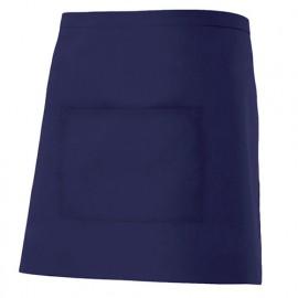 Tablier de service court à poche 65% polyester 35% coton 190 gr/m2 - Bleu Marine - 404201 - Velilla