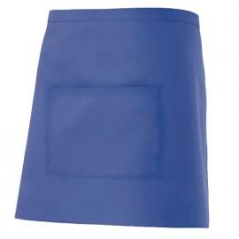 Tablier de service court à poche 65% polyester 35% coton 190 gr/m2 - Bleu Outremer - 404201 - Velilla