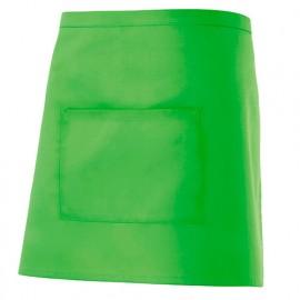 Tablier de service court à poche 65% polyester 35% coton 190 gr/m2 - Citron Vert - 404201 - Velilla