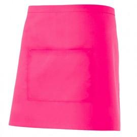 Tablier de service court à poche 65% polyester 35% coton 190 gr/m2 - Fuchsia - 404201 - Velilla