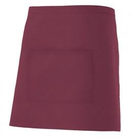 Tablier de service court à poche 65% polyester 35% coton 190 gr/m2 - Grenat - 404201 - Velilla