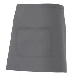 Tablier de service court à poche 65% polyester 35% coton 190 gr/m2 - Gris - 404201 - Velilla