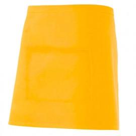 Tablier de service court à poche 65% polyester 35% coton 190 gr/m2 - Jaune - 404201 - Velilla