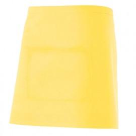 Tablier de service court à poche 65% polyester 35% coton 190 gr/m2 - Jaune Clair - 404201 - Velilla