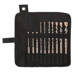 Trousse 10 pcs SDS+ 2 taillants D. 5, 6, 8 x L. 110mm et D. 6 (x2), 8 (x2), 10, 12, 14 x L. 160 mm Twister-plus - 116D - Diager