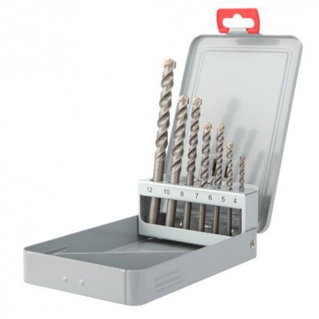 Coffret de 7 forets béton cylindrique PRO D. 4, 5, 6, 7, 8, 10 et 12 mm - 208D - Diager