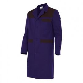 Blouse de travail 3 poches avec empiècements homme 65% polyester 35% coton 190 gr/m2 - Bleu Marine/Noir - BC700 - Velilla
