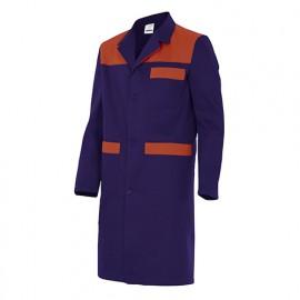 Blouse de travail 3 poches avec empiècements homme 65% polyester 35% coton 190 gr/m2 - Bleu Marine/Rouge - BC700 - Velilla