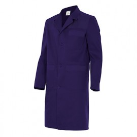 Blouse de travail 3 poches avec empiècements homme 65% polyester 35% coton 190 gr/m2 - Bleu Marine/Bleu Marine - BC700 - Velilla