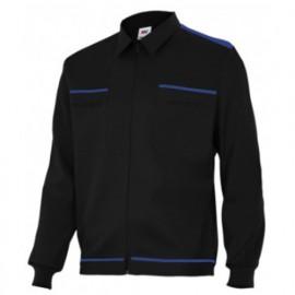 Blouson de travail 2 poches homme 80% polyester 20% coton 190 gr/m2 - Noir/Bleu Marine - BI61601 - Vertice laboral