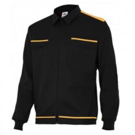 Blouson de travail 2 poches homme 80% polyester 20% coton 190 gr/m2 - Noir/Orange - BI61601 - Vertice laboral