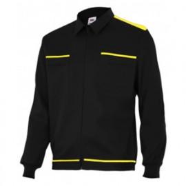 Blouson de travail 2 poches homme 80% polyester 20% coton 190 gr/m2 - Noir/Jaune - BI61601 - Vertice laboral