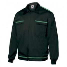 Blouson de travail 2 poches homme 80% polyester 20% coton 190 gr/m2 - Noir/Vert - BI61601 - Vertice laboral