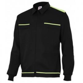 Blouson de travail 2 poches homme 80% polyester 20% coton 190 gr/m2 - Noir/Citron Vert - BI61601 - Vertice laboral