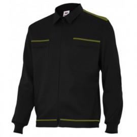 Blouson de travail 2 poches homme 80% polyester 20% coton 190 gr/m2 - Noir/Vert Chasseur - BI61601 - Vertice laboral