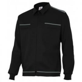 Blouson de travail 2 poches homme 80% polyester 20% coton 190 gr/m2 - Noir/Gris - BI61601 - Vertice laboral