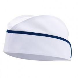 Calot agroalimentaire à résille homme 65% polyester 35% coton 190 gr/m2 - Blanc/Bleu Azur - P91 - Velilla