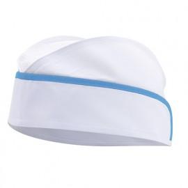 Calot agroalimentaire à résille homme 65% polyester 35% coton 190 gr/m2 - Blanc/Bleu Ciel - P91 - Velilla