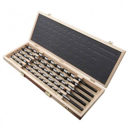 Mallette 5 mèches bois spirale unique PRO D. 12,14,16,18,20 x Lt. 460 mm queue héxagonale 6 pans - 913C - Diager