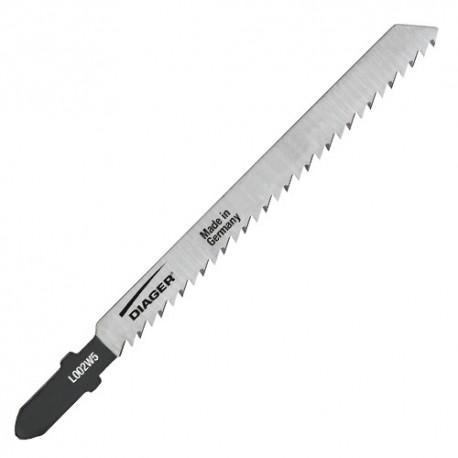 100 lames de scie sauteuse HCS CV pas de 2,5 x Lu. 75 mm pour bois/plastique - L002W100 - Diager