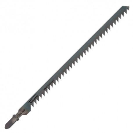 5 lames de scie sauteuse HCS CV pas de 4 x Lu. 155 mm pour bois - L010WL1805 - Diager