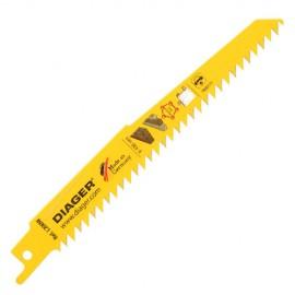 100 lames de scie sabre HCS pas de 4,2 x Lu. 130 mm spécial plâtre et fibrociment - L200WL150100 - Diager